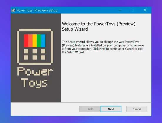 ejecute PowerToys.