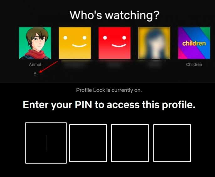 ingresar el código PIN