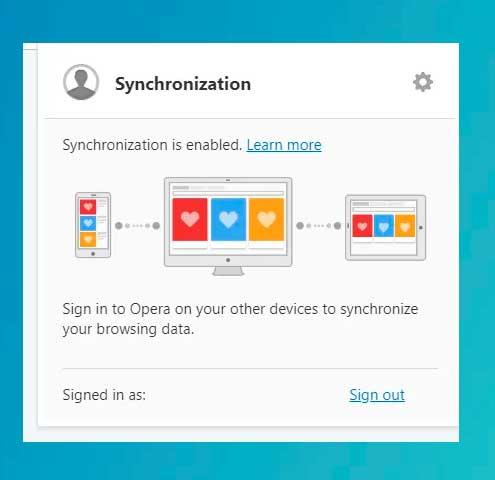 la sincronización está habilitada