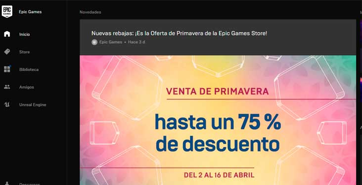 ofertas epic games launcher
