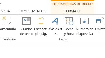 pestaña word art