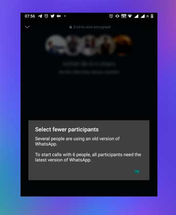 seleccionar participantes llamada grupal