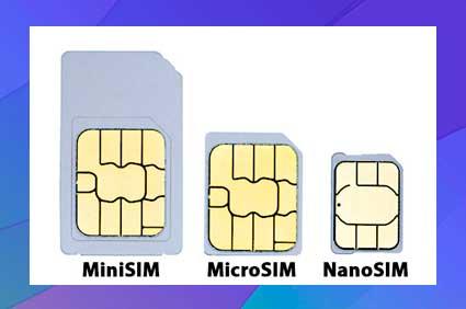 Cambio de tarjetas SIM