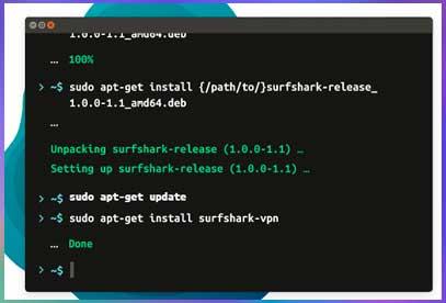 Cliente VPN Surfshark en Linux