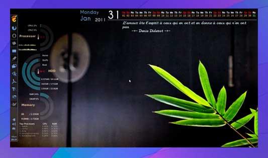 Conky Calendar