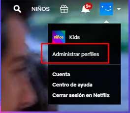 Crea un nuevo perfil en Netflix