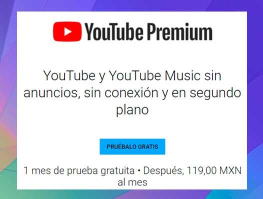 Cuánto cuesta YouTube Premium