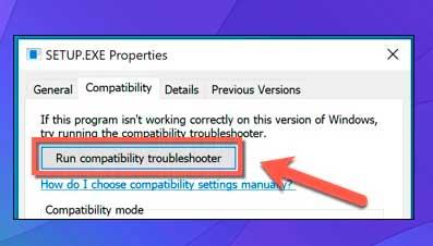 Ejecutar solucionador de problemas de compatibilidad