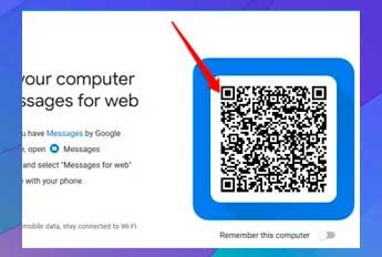 Escanee el código QR en el sitio web de mensajes