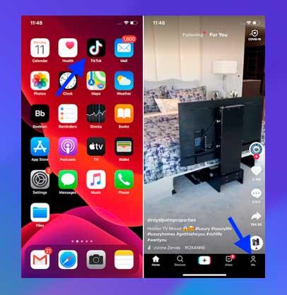 Inicie TikTok en su dispositivo móvil