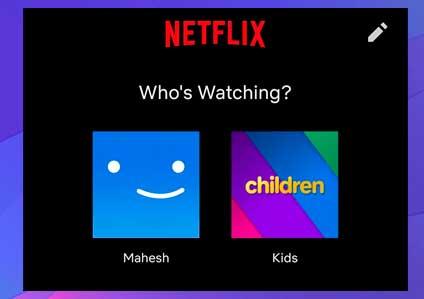 Inicie la aplicación Netflix en su teléfono y toque el perfil
