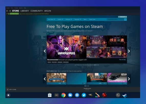 Instalar Steam en Chromebook