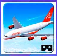 Simulación de vuelo de avión VR