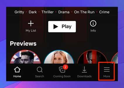 Toque Más en la parte inferior de su pantalla