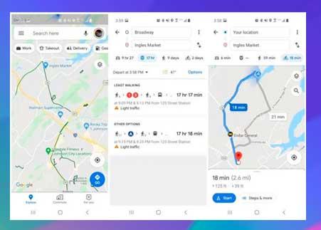 Uso de Gear S3 y Google Maps para ciclismo y tránsito