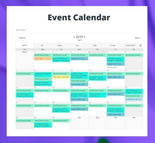 administre o agregue eventos a su blog