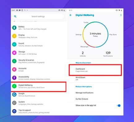 Utilice el bienestar digital en Android