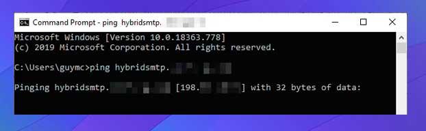 convertir el nombre de dominio en una dirección IP.