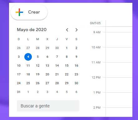 crear calendario