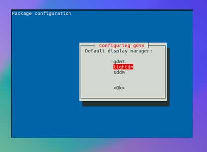 elegir el administrador de pantalla predeterminado de Ubuntu