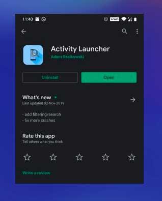 instalar Activity Launcher