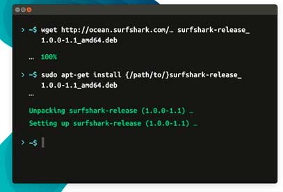 instale el repositorio Surfshark en su dispositivo Linux