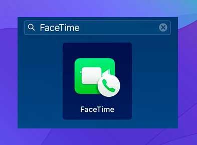 Abre la aplicación FaceTime en tu Mac