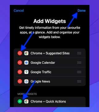 Ajusta hoy widgets de visualización