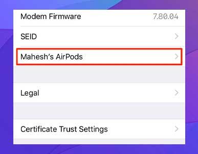 Cómo comprobar la versión de firmware de los AirPods