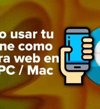 Cómo usar tu iPhone como cámara web en una PC / Mac