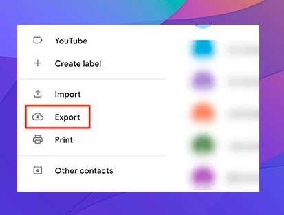 Exportar contactos de Google a la pc