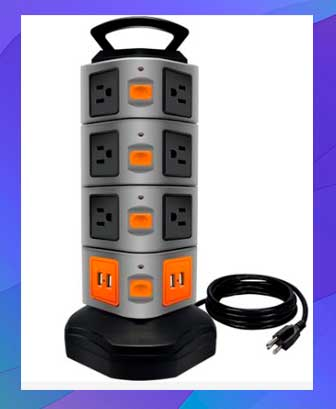 Lovin Product Surge Protector Power Strip Tower