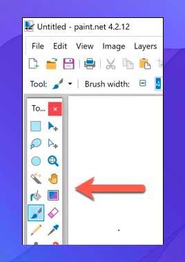 Paint.NET.herramientas de trabajo