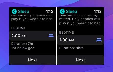 Pon tu hora de dormir. Esto depende de ti