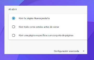 Restablecer el navegador Chrome