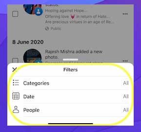 Seleccione el filtro deseado