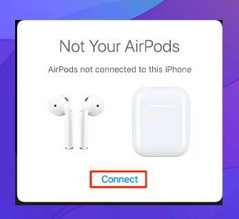 Toca Conectar para emparejar los AirPods con tu iPhone