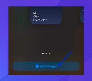 Toque el botón Agregar widget