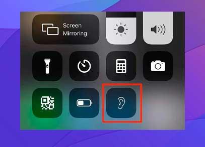 Toque el icono de audición