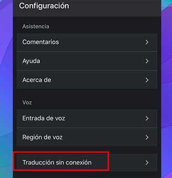 Traducción sin conexión