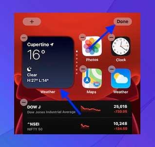 Use Smart Stack en la pantalla de inicio