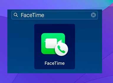 busca FaceTime y ábrelo