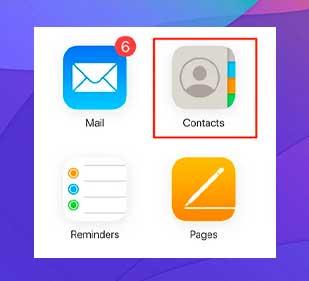 clic en la opción Contactos en la interfaz principal