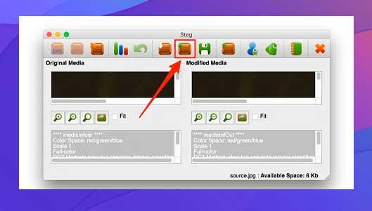 clic en la opción Ocultar datos para agregar archivos para ocultarlos