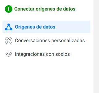 Conectarorígenes de datos