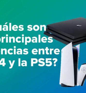 ¿Cuáles son las principales diferencias entre la PS4 y la PS5?