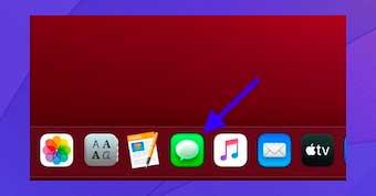 Inicie la aplicación Mensajes en su Mac.